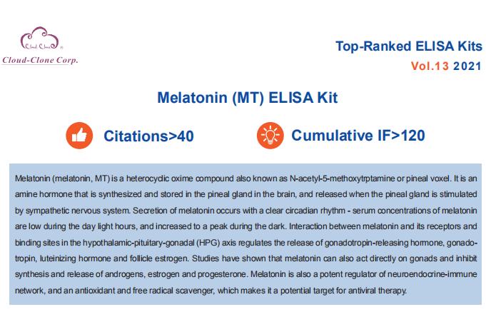 Top-Ranked ELISA Kits (Melatonin MT). Vol.13