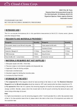 ELISA-Kit-for-Anti-Interleukin-12-Antibody-(Anti-IL12)-AEA111Hu.pdf