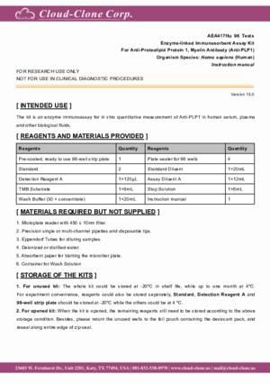 ELISA-Kit-for-Anti-Proteolipid-Protein-1--Myelin-Antibody-(Anti-PLP1)-AEA417Hu.pdf