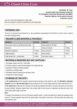 ELISA-Kit-for-Anti-Myelin-Associated-Glycoprotein-Antibody-(Anti-MAG)-AEA422Hu.pdf