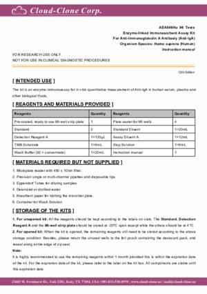 ELISA-Kit-for-Anti-Immunoglobulin-A-Antibody-(Anti-IgA)-AEA546Hu.pdf