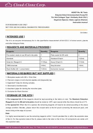 ELISA-Kit-for-Anti-Collagen-Type-I-Antibody-(Anti-COL1)-AEA571Hu.pdf