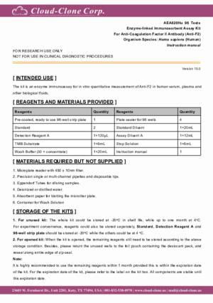ELISA-Kit-for-Anti-Coagulation-Factor-II-Antibody-(Anti-F2)-AEA820Hu.pdf