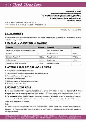 ELISA-Kit-for-Anti-Mannose-Binding-Lectin-Antibody--Anti-MBL--E99513Hu.pdf