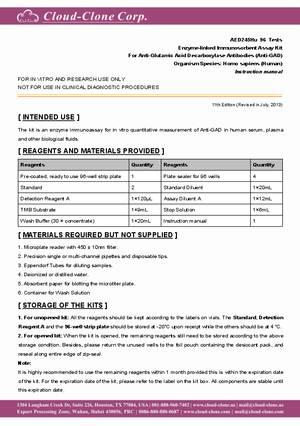 ELISA-Kit-for-Anti-Glutamic-Acid-Decarboxylase-Antibodies--Anti-GAD--E93245Hu.pdf