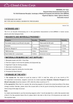 ELISA-Kit-for-Anti-Glutamate-Receptor--Ionotropic--N-Methyl-D-Aspartate-2A-Antibody-(Anti-GRIN2A)-AEE806Hu.pdf