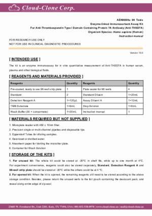 ELISA-Kit-for-Anti-Thrombospondin-Type-I-Domain-Containing-Protein-7A-Antibody-(Anti-THSD7A)-AEN909Hu.pdf