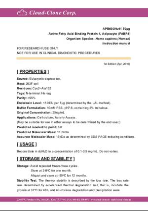 Active-Fatty-Acid-Binding-Protein-4-(FABP4)-APB693Hu61.pdf