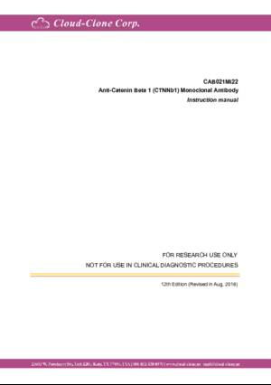 Anti-Catenin-Beta-1-(CTNNb1)-Monoclonal-Antibody-CAB021Mi22.pdf