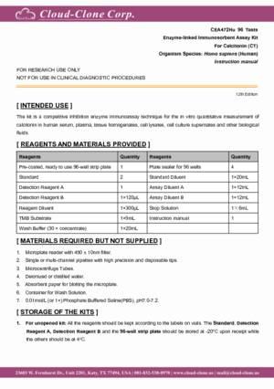 ELISA-Kit-for-Calcitonin-(CT)-CEA472Hu.pdf