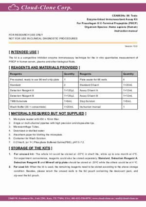 ELISA-Kit-for-Procollagen-III-C-Terminal-Propeptide-(PIIICP)-CEA963Hu.pdf