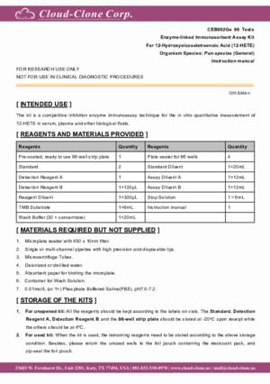 ELISA-Kit-for-12-Hydroxyeicosatetraenoic-Acid-(12-HETE)-CEB002Ge.pdf
