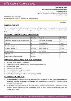 ELISA-Kit-for-Albumin-(ALB)-CEB028Rb.pdf