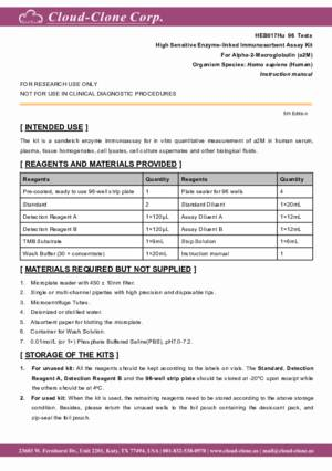 High-Sensitive-ELISA-Kit-for-Alpha-2-Macroglobulin-(a2M)-HEB017Hu.pdf