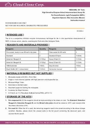 High-Sensitive-ELISA-Kit-for-Neurofilament--Light-Polypeptide-(NEFL)-HEE038Mu.pdf