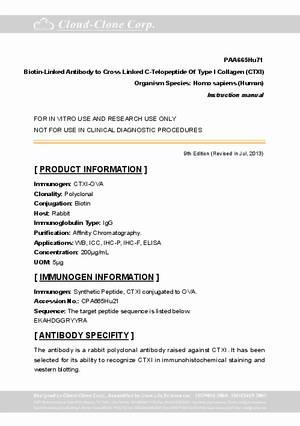 Biotin-Linked-Antibody-to-Cross-Linked-C-Telopeptide-Of-Type-I-Collagen--CTXI--PAA665Hu71.pdf