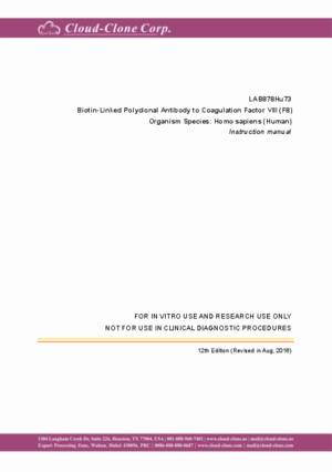 Biotin-Linked Polyclonal Antibody to Coagulation Factor VIII