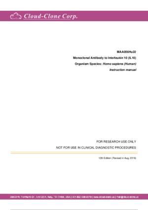 Monoclonal-Antibody-to-Interleukin-10-(IL10)-MAA056Hu22.pdf