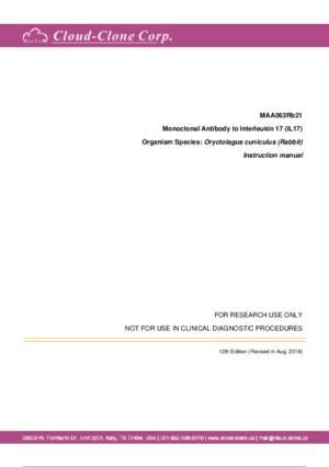 Monoclonal-Antibody-to-Interleukin-17-(IL17)-MAA063Rb21.pdf