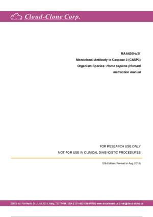 Monoclonal-Antibody-to-Caspase-3-(CASP3)-MAA626Hu21.pdf