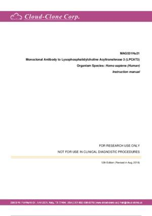 Monoclonal-Antibody-to-Lysophosphatidylcholine-Acyltransferase-3-(LPCAT3)-MAG531Hu21.pdf
