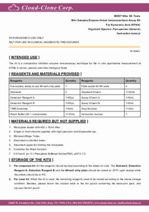 Mini-Samples-ELISA-Kit-for-Kynurenic-Acid-(KYNA)-MED718Ge.pdf