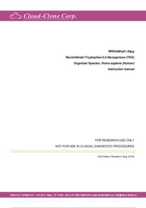 Recombinant-Tryptophan-2-3-dioxygenase-(TDO)-RPE260Hu01.pdf