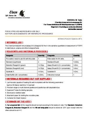 CLIA-Kit-for-Tissue-Inhibitors-Of-Metalloproteinase-4--TIMP4--C90130Rb.pdf
