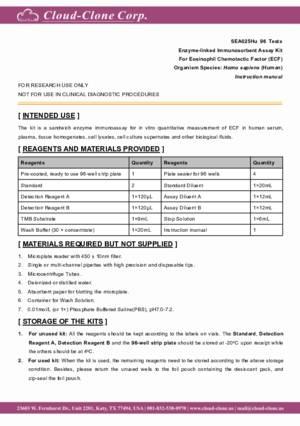 ELISA-Kit-for-Eosinophil-Chemotactic-Factor-(ECF)-SEA025Hu.pdf
