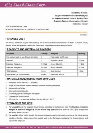 ELISA-Kit-for-Fibroblast-Growth-Factor-1--Acidic-(FGF1)-SEA032Hu.pdf