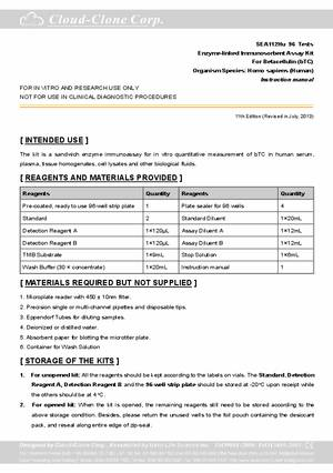 ELISA-Kit-for-Betacellulin-(bTC)-E90112Hu.pdf
