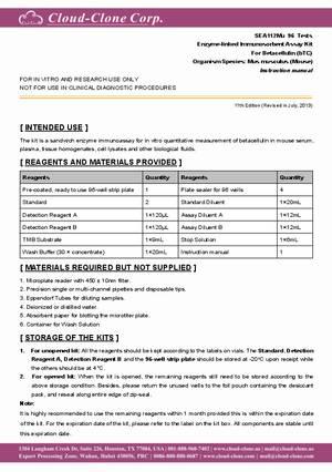 ELISA-Kit-for-Betacellulin-(bTC)-E90112Mu.pdf
