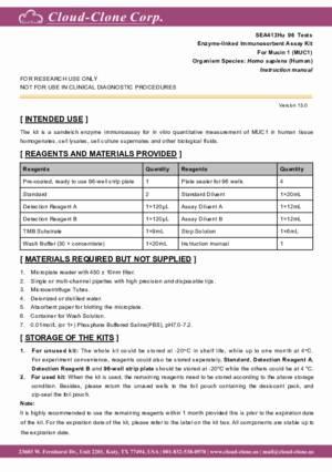 ELISA-Kit-for-Mucin-1-(MUC1)-SEA413Hu.pdf