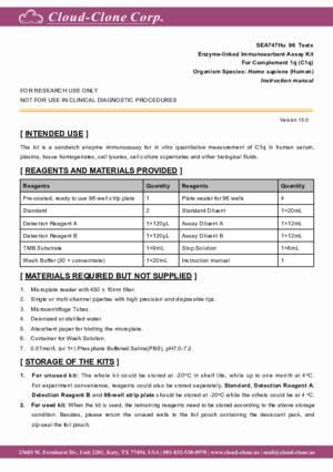 ELISA-Kit-for-Complement-1q-(C1q)-SEA747Hu.pdf
