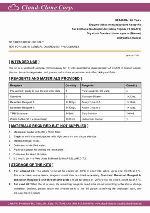 ELISA-Kit-for-Epithelial-Neutrophil-Activating-Peptide-78-(ENA78)-SEA860Hu.pdf