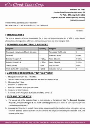 ELISA-Kit-for-Alpha-2-Macroglobulin-(a2M)-SEB017Si.pdf