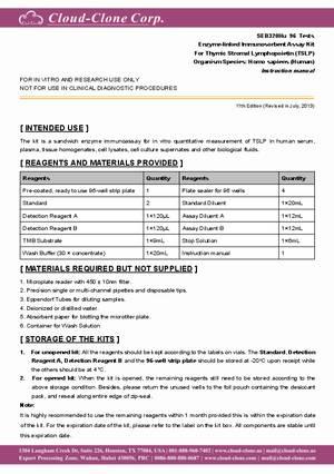 ELISA-Kit-for-Thymic-Stromal-Lymphopoietin-(TSLP)-E91320Hu.pdf