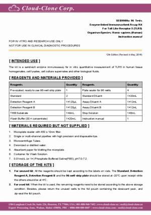ELISA-Kit-for-Toll-Like-Receptor-5-(TLR5)-SEB990Hu.pdf