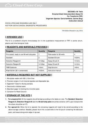 ELISA-Kit-for-Transferrin--TRF--E92036Ca.pdf