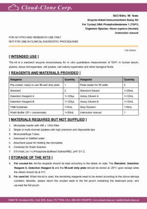 ELISA-Kit-for-Tyrosyl-DNA-Phosphodiesterase-1-(TDP1)-SEC785Hu.pdf