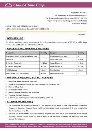 ELISA-Kit-for-Glutamate-Receptor--Ionotropic--AMPA-1-(GRIA1)-SEE801Rb.pdf
