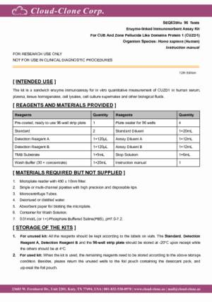ELISA-Kit-for-CUB-And-Zona-Pellucida-Like-Domains-Protein-1-(CUZD1)-SEQ635Hu.pdf