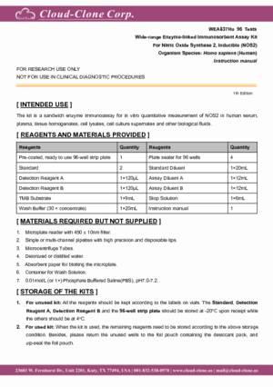 Wide-range-ELISA-Kit-for-Nitric-Oxide-Synthase-2--Inducible-(NOS2)-WEA837Hu.pdf