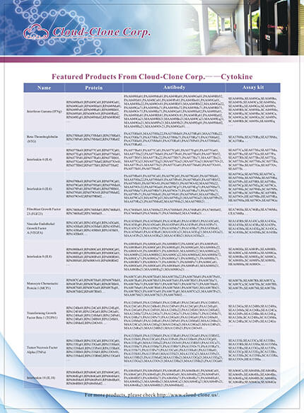 Featured Productes From Cloud-Clone Corp. -- Cytokine